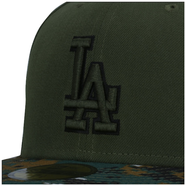 Boné Aba Reta New Era 59FIFTY Los Angeles Dodgers MLB Genuine - Fechado - Adulto