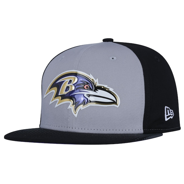 Boné Aba Reta New Era 9FIFTY Baltimore Ravens Draft Black/Grey NFL Team - Snapback - Adulto