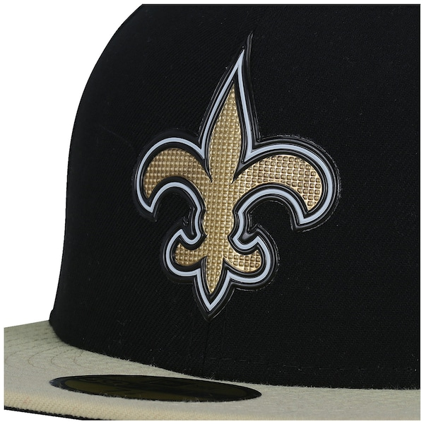 Boné Aba Reta New Era 59FIFTY New Orleans Saints NFL Black - Fechado - Adulto
