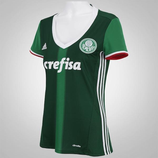 600c5d8a8ba48 Camisa do Palmeiras I 2016 adidas - Feminina