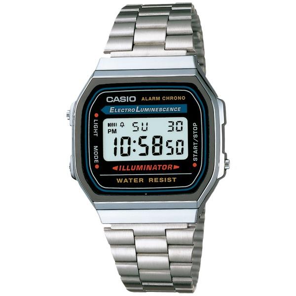 Relógio Digital Casio Vintage A168WA - Masculino