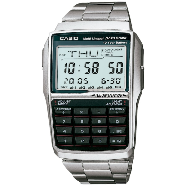 Relógio Digital Casio Data Bank Vintage DBC32D - Masculino