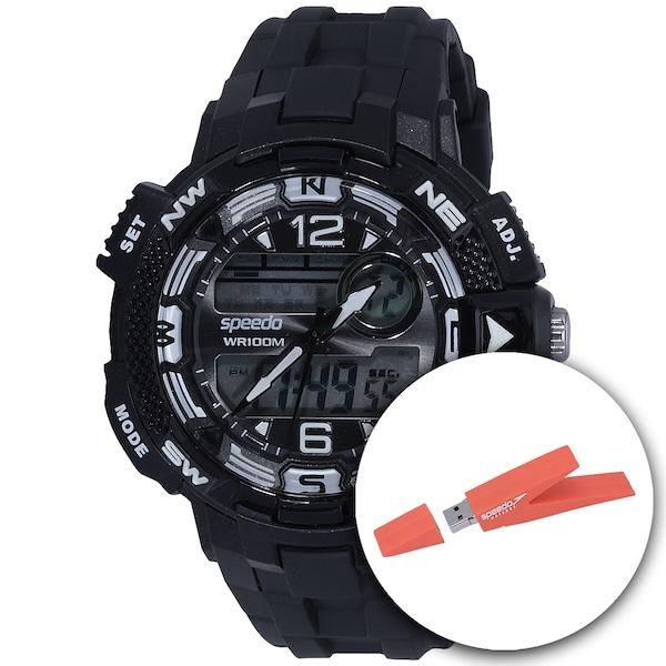 Relógio Digital Analógico Speedo 65048G0 com Pen Drive - Masculino