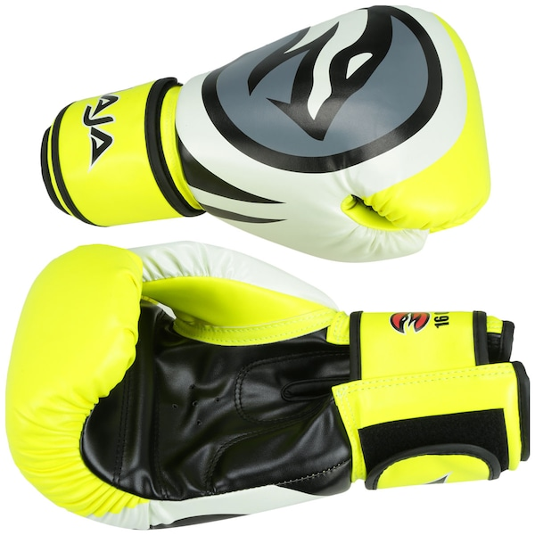 Luvas de Boxe Naja Colors Flúor - 16 OZ - Adulto