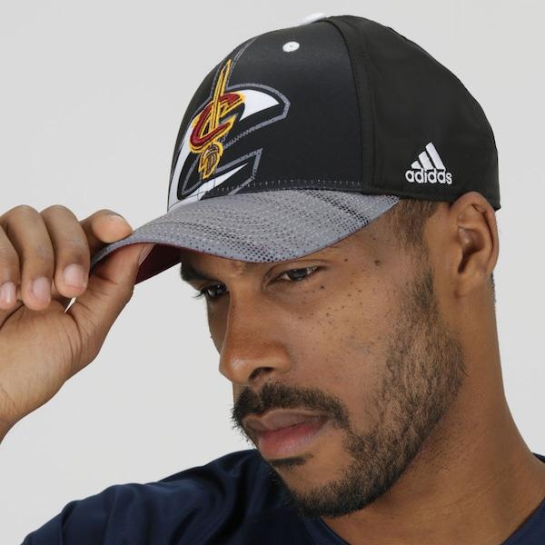 Boné Aba Curva adidas NBA Cleveland Cavaliers Black/White - Snapback - Adulto