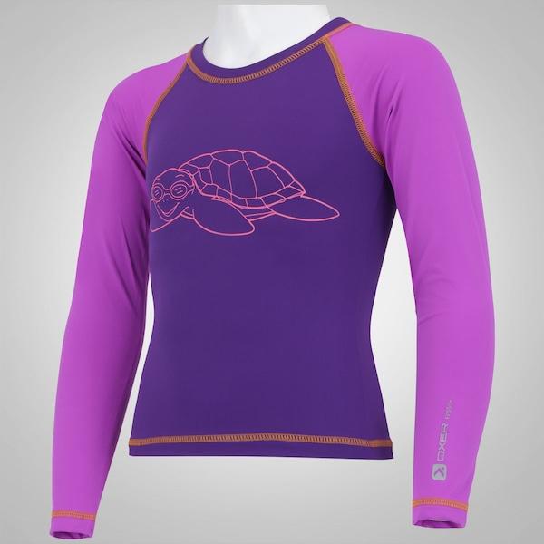 71107be07 Camiseta Manga Longa com Proteção Solar UV Oxer Tartaruga - Infantil