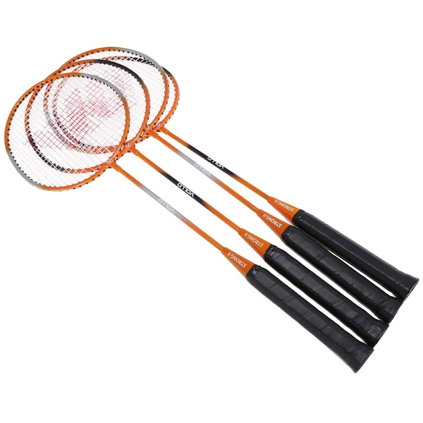 Kit de Badminton Vollo Sports VB004: 4 Raquetes, 3 Petecas, 1 Rede e 1 Raqueteira