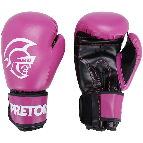 Kit de Boxe Pretorian: Bandagem + Protetor Bucal + Luvas de Boxe First - 12 OZ - Adulto