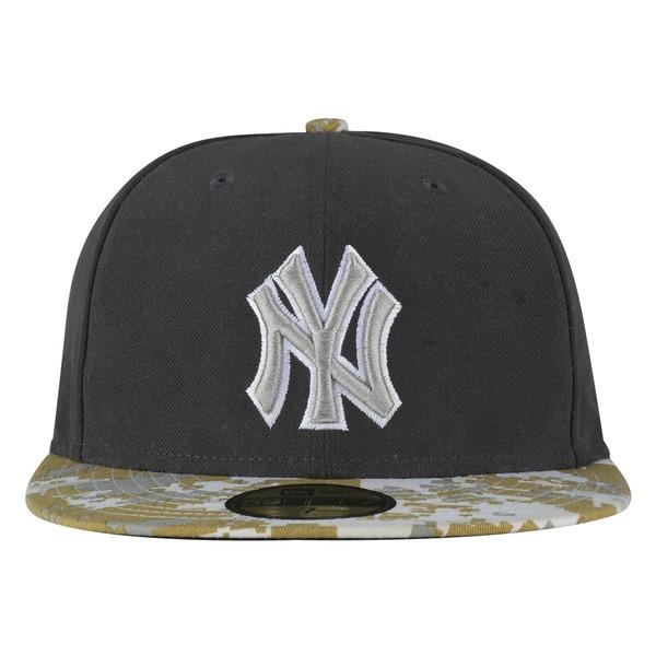 Boné Aba Reta New Era New York Yankees Cinza - Fechado - Adulto