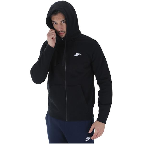 0d132b13da Jaqueta de Moletom com Capuz Nike Hoodie FZ FLC Club - Masculina