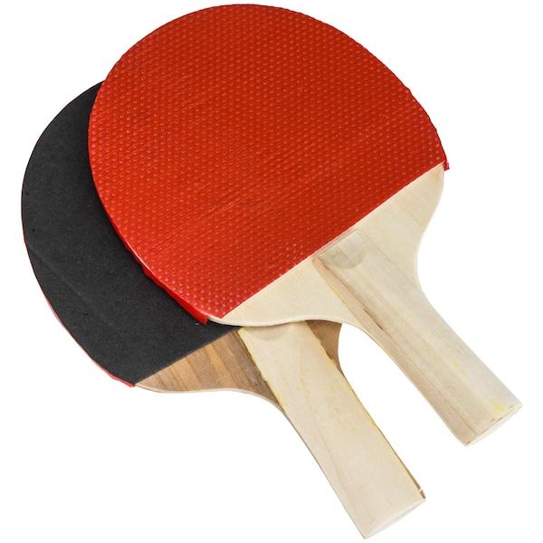 Kit de Tênis de Mesa Western: 2 Raquetes, 3 Bolinhas, 2 Suportes e Rede