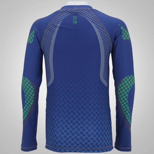 6c14b42a91 ... Camiseta Manga Longa com Proteção Solar UV Line Acqua Teens Surf -  Infantil
