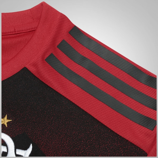 9f4c0acf2ef24 Camisa Pré-Jogo do Flamengo 2017 Longline adidas - Infantil