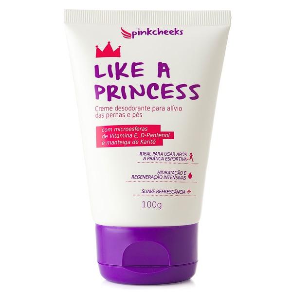 Creme para Pernas e Pés Pink Cheeks Like a Princess - 100g