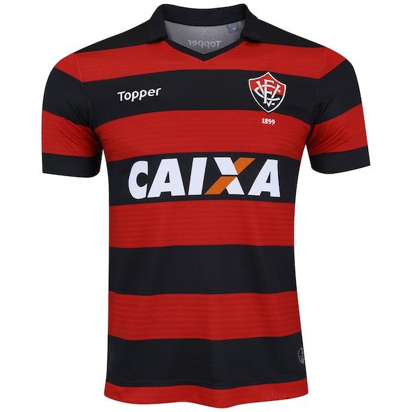 fbe0196cce7ca Camisa do Vitória I 2017 Topper - Masculina