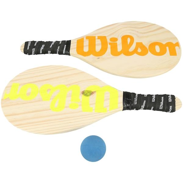 Kit de Frescobol Wilson: 2 Raquetes e 1 Bolinha