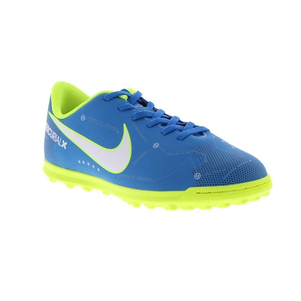... Chuteira Society Nike Mercurial X Vortex III Neymar TF - Infantil ... 1ce01e61900a4