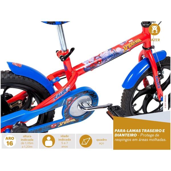 Bicicleta Caloi Homem Aranha - Aro 16 - Freio a Tambor - Masculina - Infantil