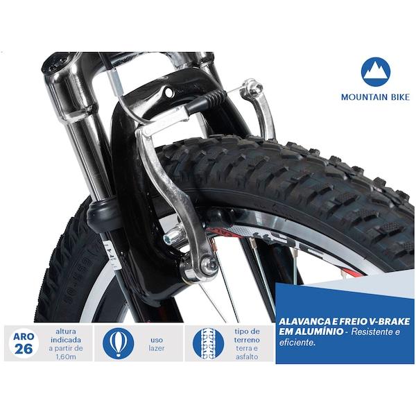 Mountain Bike Caloi Aluminum Sport - Aro 26 - Freio V-Brake - 21 Marchas