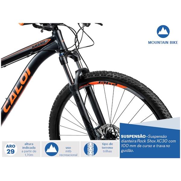 3c50645c1 Mountain Bike Caloi Moab - Aro 29 - Câmbio e Freio Hidráulico Shimano - 27  Marchas