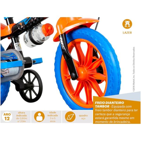 f49f84b16 Bicicleta Caloi Hot Wheels - Aro 12 - Freio a Tambor - Masculina - Infantil