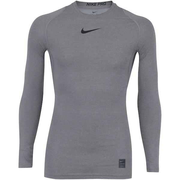 c9b4719fc109 Camisa de Compressão Manga Longa Nike Pro LS - Masculina