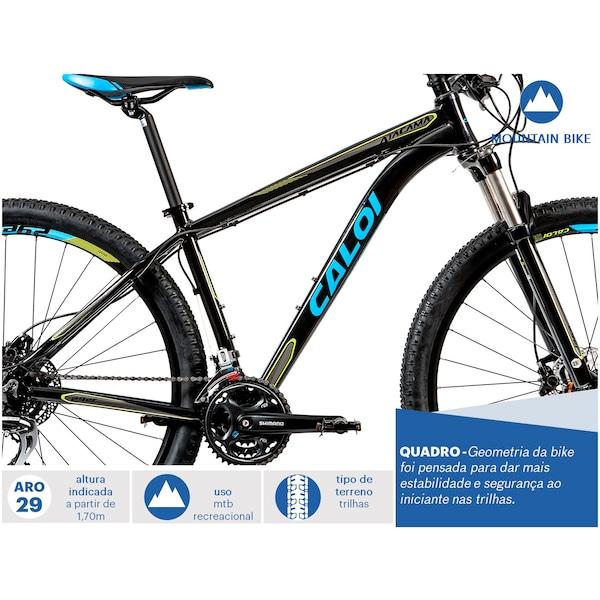f6a2c6697 Mountain Bike Caloi Atacama - Aro 29 - Freio Hidráulico - Câmbio Shimano -  24 Marchas