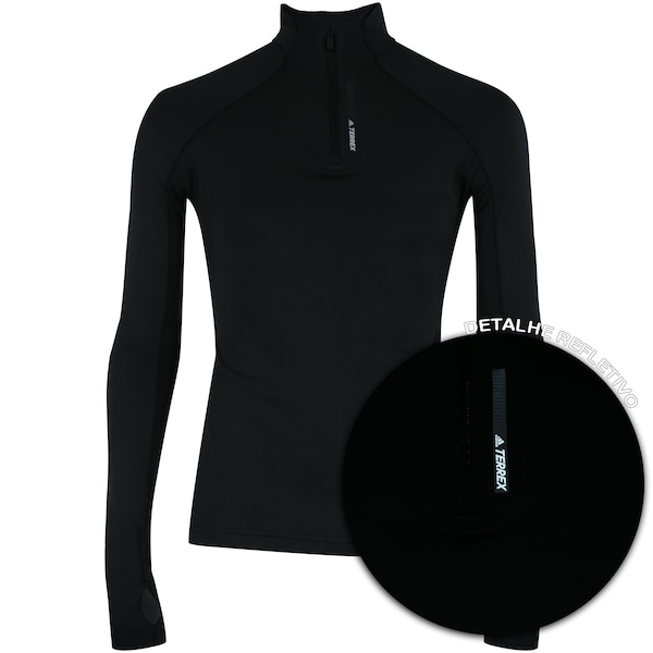 7ccdf40f79 Camisa Térmica Manga Longa adidas Terrex Tracerocker com Gola Alta -  Feminina