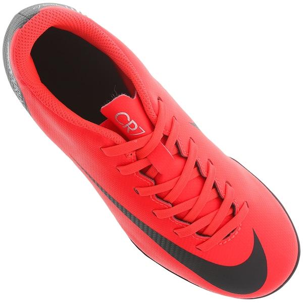 ab06e9f10d829 Chuteira de Campo Nike Mercurial Vapor 12 Club GS CR7 MG - Infantil