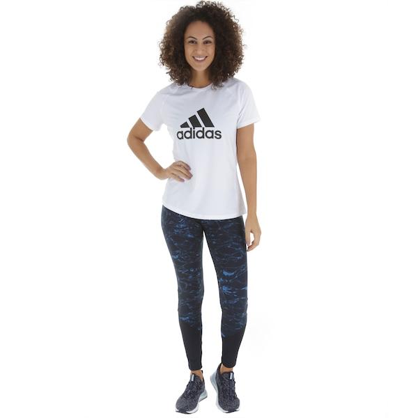 Camiseta adidas D2M Logo Tee - Feminina d0824a8e110