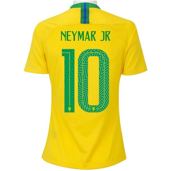 Camisa da Seleção Brasileira I 2018 Nike nº 10 Neymar Jr. - Feminina e7075567da3f4