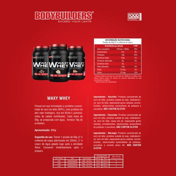 4fdb33426 Whey Protein Bodybuilders Waxy Whey - Baunilha - 900g