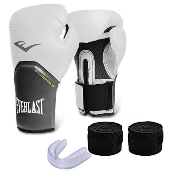 3655de9765 Kit Muay Thai Everlast com Luva Pro Style Elite - 12 Oz + Bandagem +  Protetor