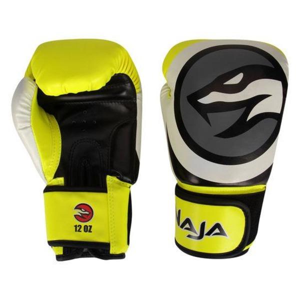 56a76f93d Kit de Boxe e Muai Thay Naja Colors Luva de Boxe Amarela + Bandagem + Protetor  Bucal