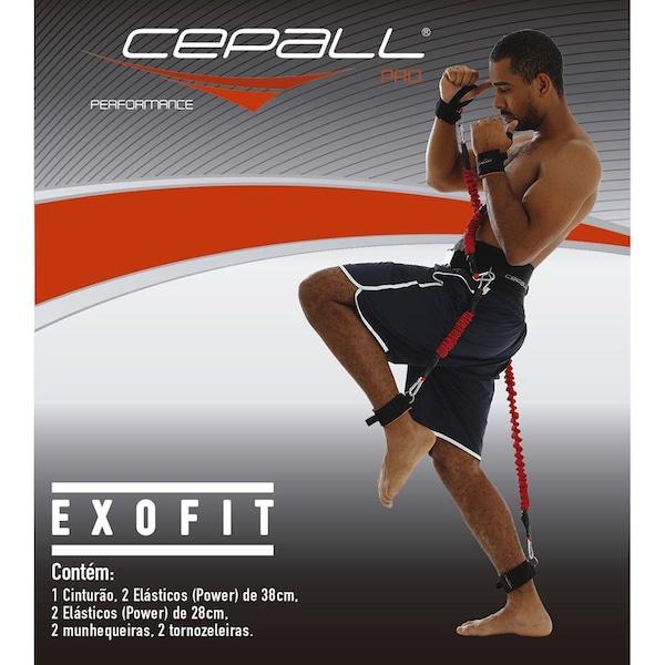 Kit de Treino Funcional Cepall Programa Exofit Pro com Cinto + Elástico de Resistência de Tensão Extra Forte