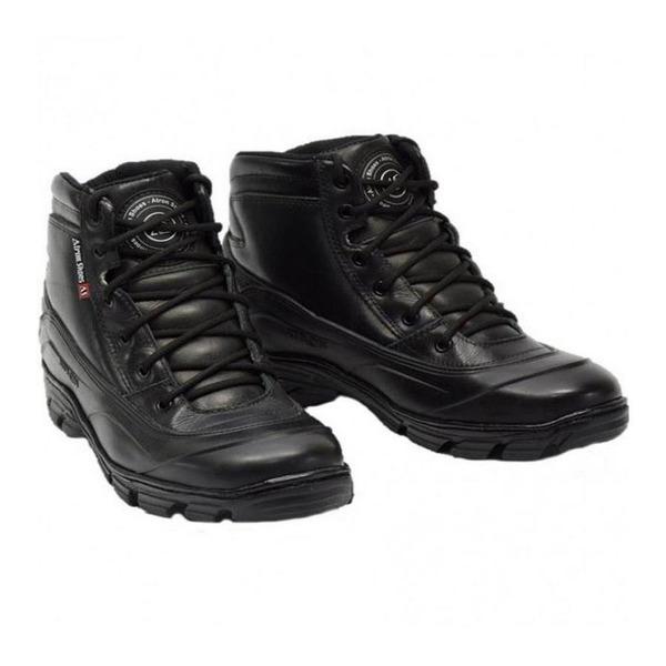 12cfac5d0c572 Bota Motociclista Militar Atron Shoes Semi-impermeável Cano Baixo Couro -  Masculina