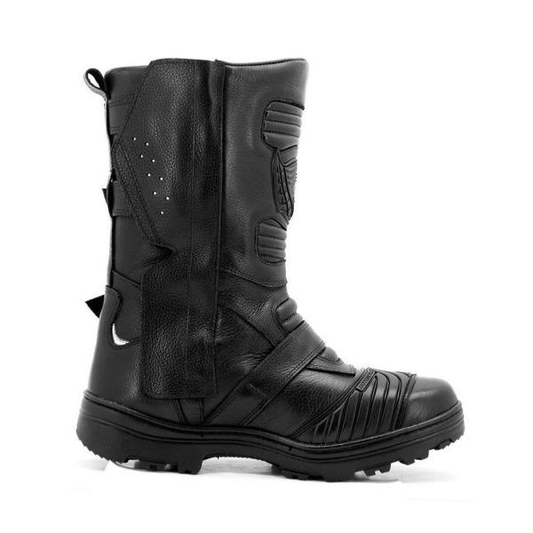 f403cfac64 Bota Motociclista Atron Shoes On-Road Adventure Couro 296 - Masculina