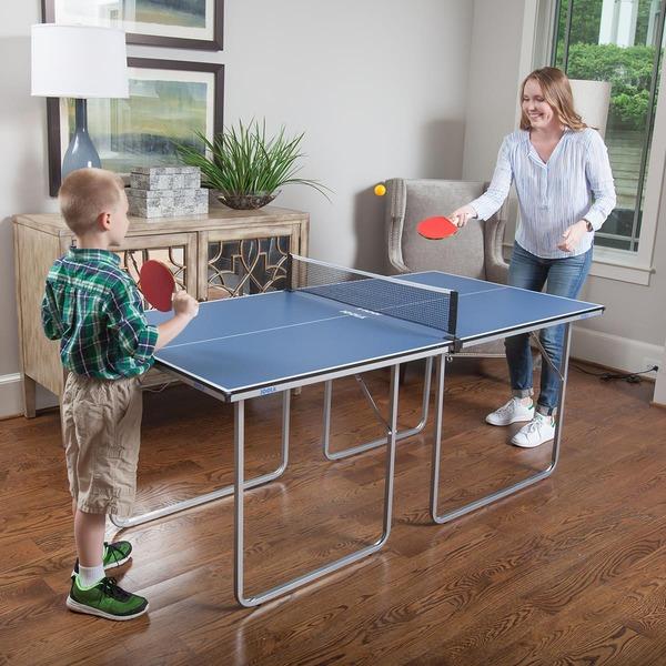 68c5c5a9c4203 Mini Mesa de Tênis de Mesa/Ping Pong Joola Midsize 2/3 com Rede e Pés ...