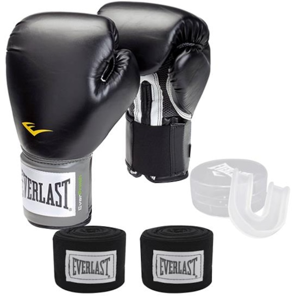 0f0adf37bcdd0 Kit de Boxe Everlast Muay Thai Training com Luva + Bandagem + Bucal - Adulto