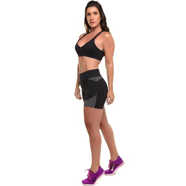 a791abb46 Conjunto Sandy Fitness Power Speed Up com Proteção Solar UV50+  Top + Short  - Feminino