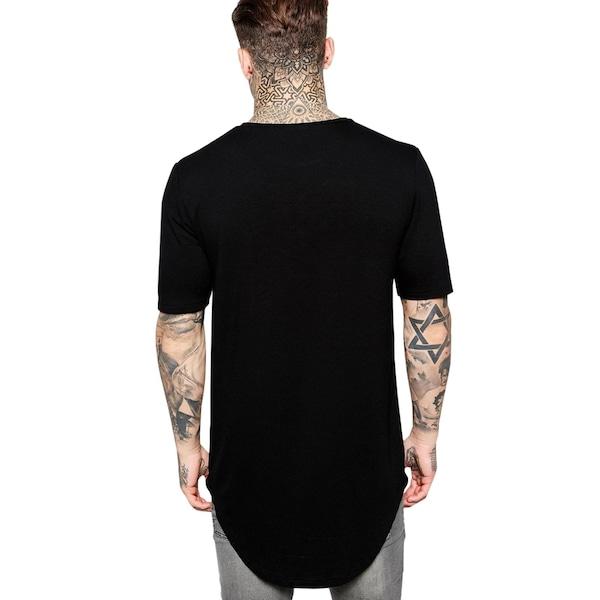 e5194dbacf800 Camiseta Criativa Urbana Long Line Oversized Lisa I - Masculina