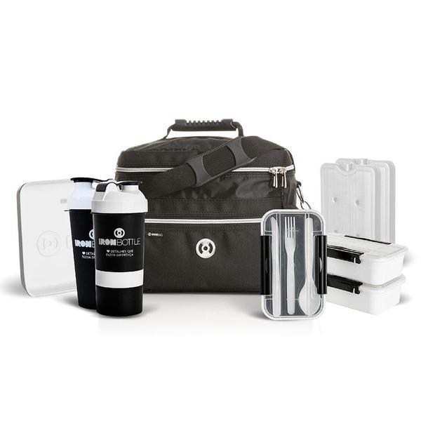 db565fc8a Bolsa Térmica Iron Bag Pop - 3 Potes - 12 Litros + Coqueteleira - 500ml +  Squeeze - 600ml