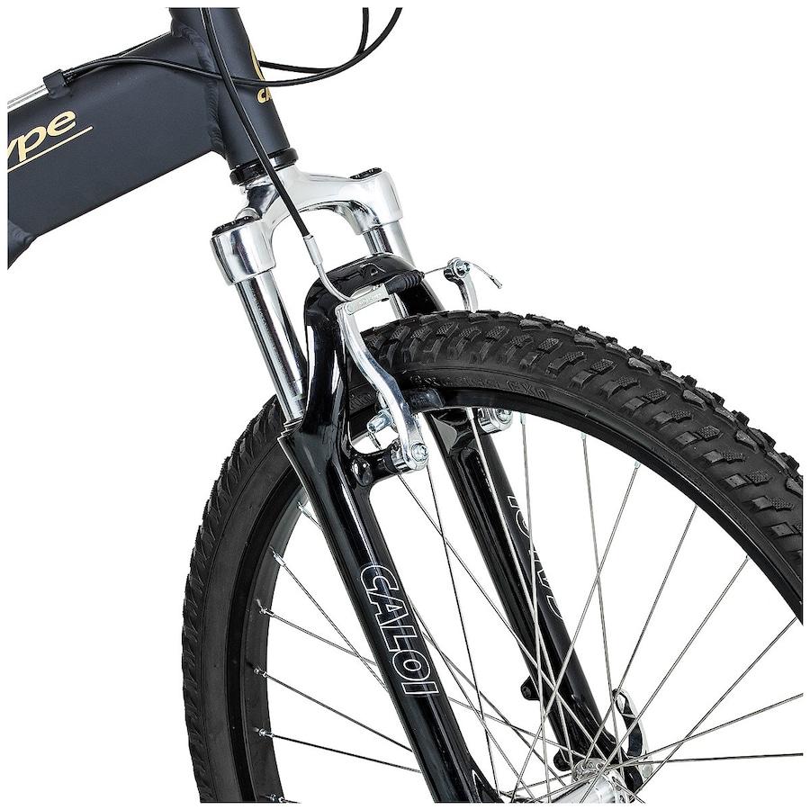 Mountain Bike Caloi T Type M - Aro 26 - Freio V-Brake - Câmbio Traseiro  Shimano - 21 Marchas 04ab2ac8df55a