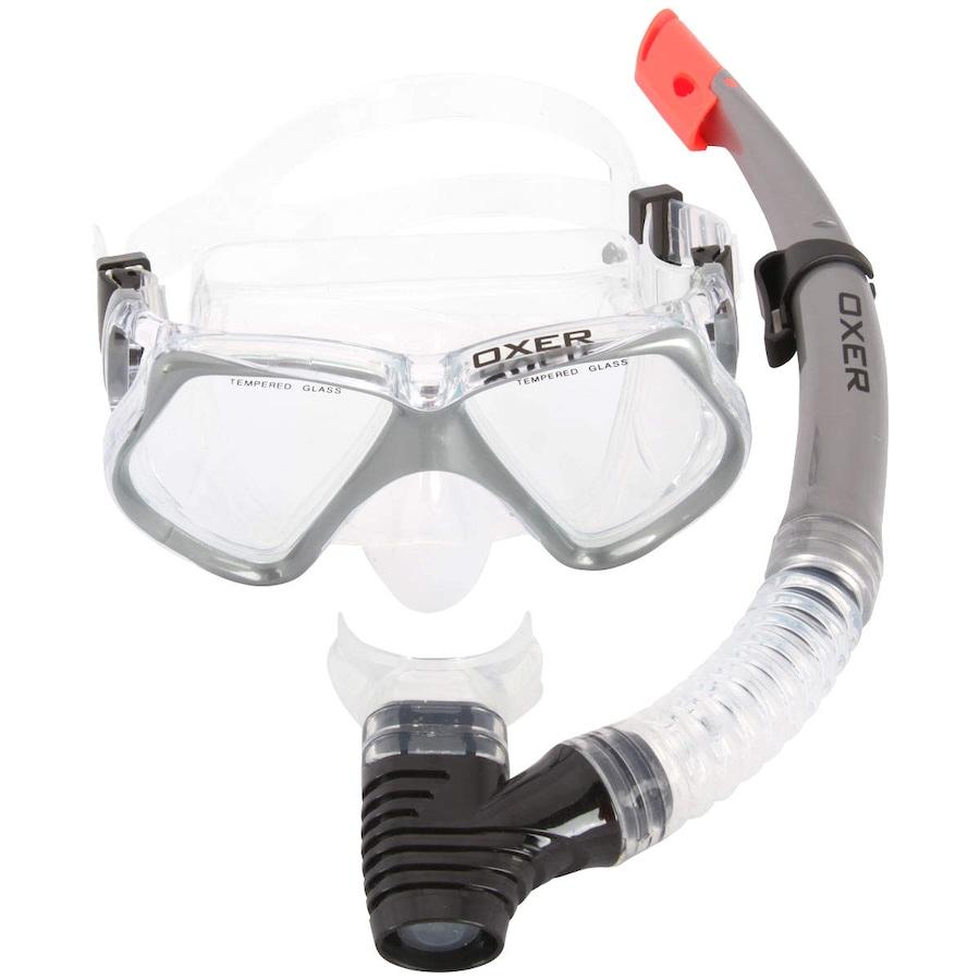 1a09dce3e Kit de Mergulho  Snorkel e Máscara de Mergulho Oxer Pro - Adulto