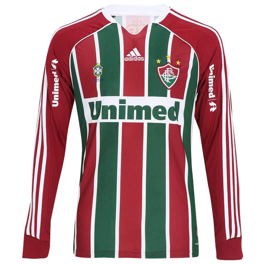 Camisa adidas Fluminense I nº10 Manga Longa 6d99b929d892e