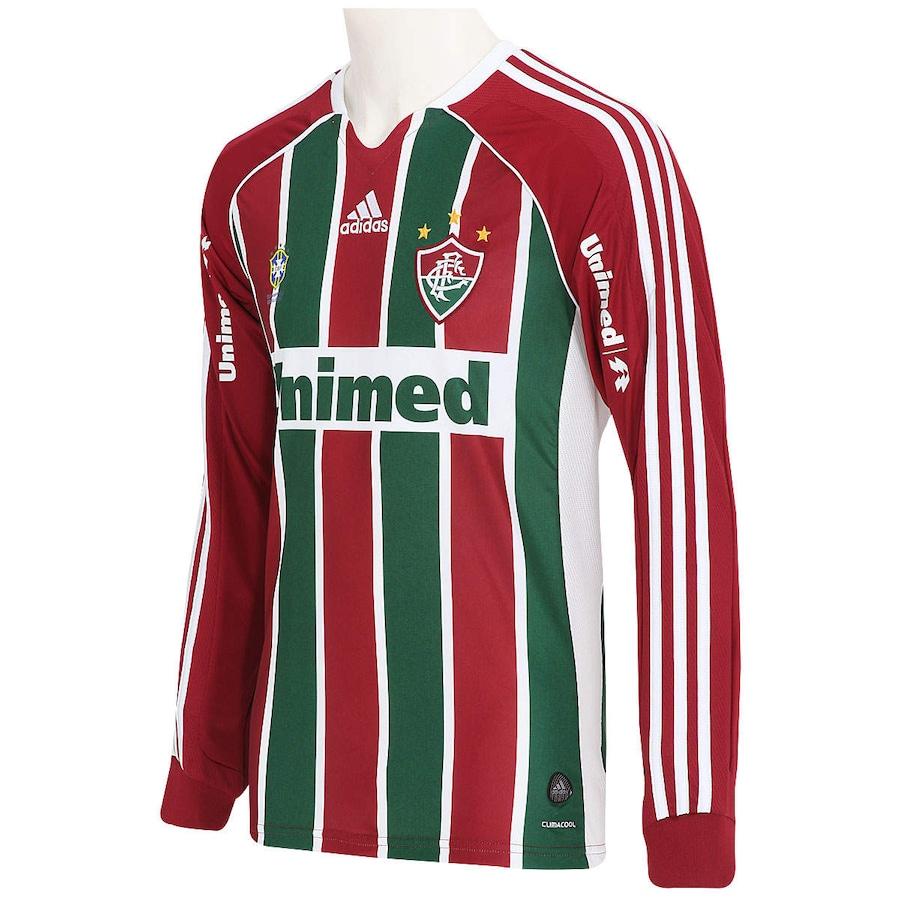 02a12d68ba Camisa adidas Fluminense I nº10 Manga Longa