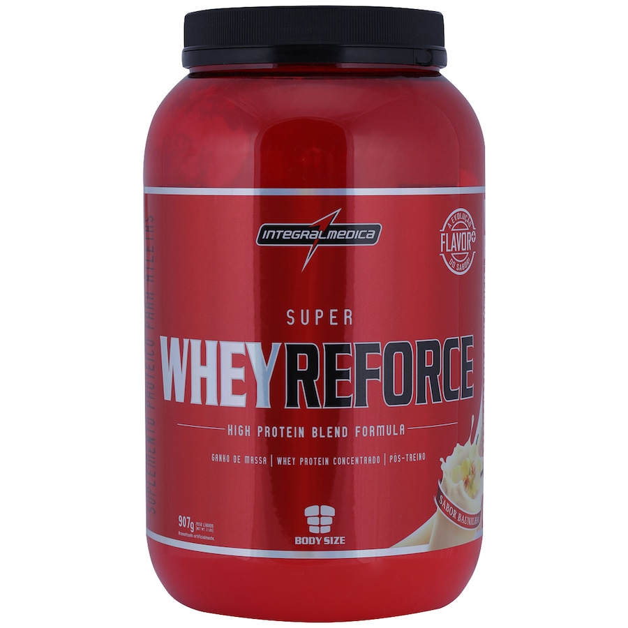 31c1d2970 Whey Protein Integralmédica Super Whey Reforce Body Size - Baunilha - 907g