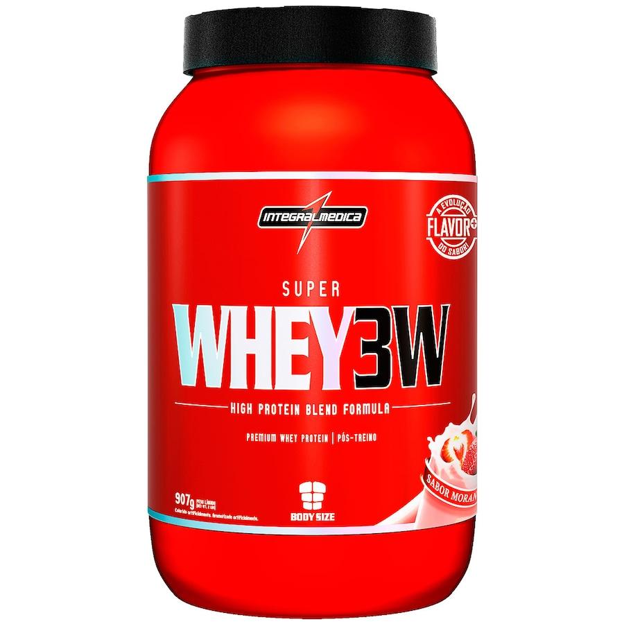 Whey Protein Integralmédica Morango 3W Super - 907g