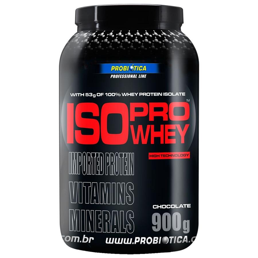 72a2beb12 Whey Protein Isolado Probiótica Pro Whey - Chocolate - 900g
