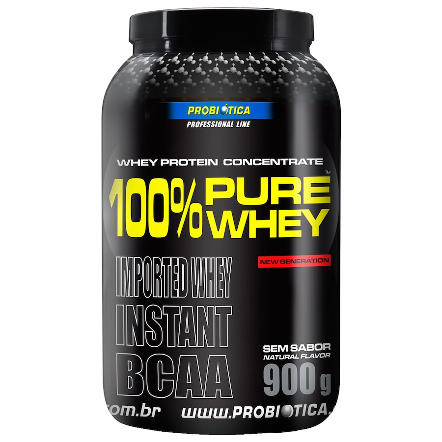56480bc16 100% Pure Whey Protein Probiotica - 900g - Sem Sabor